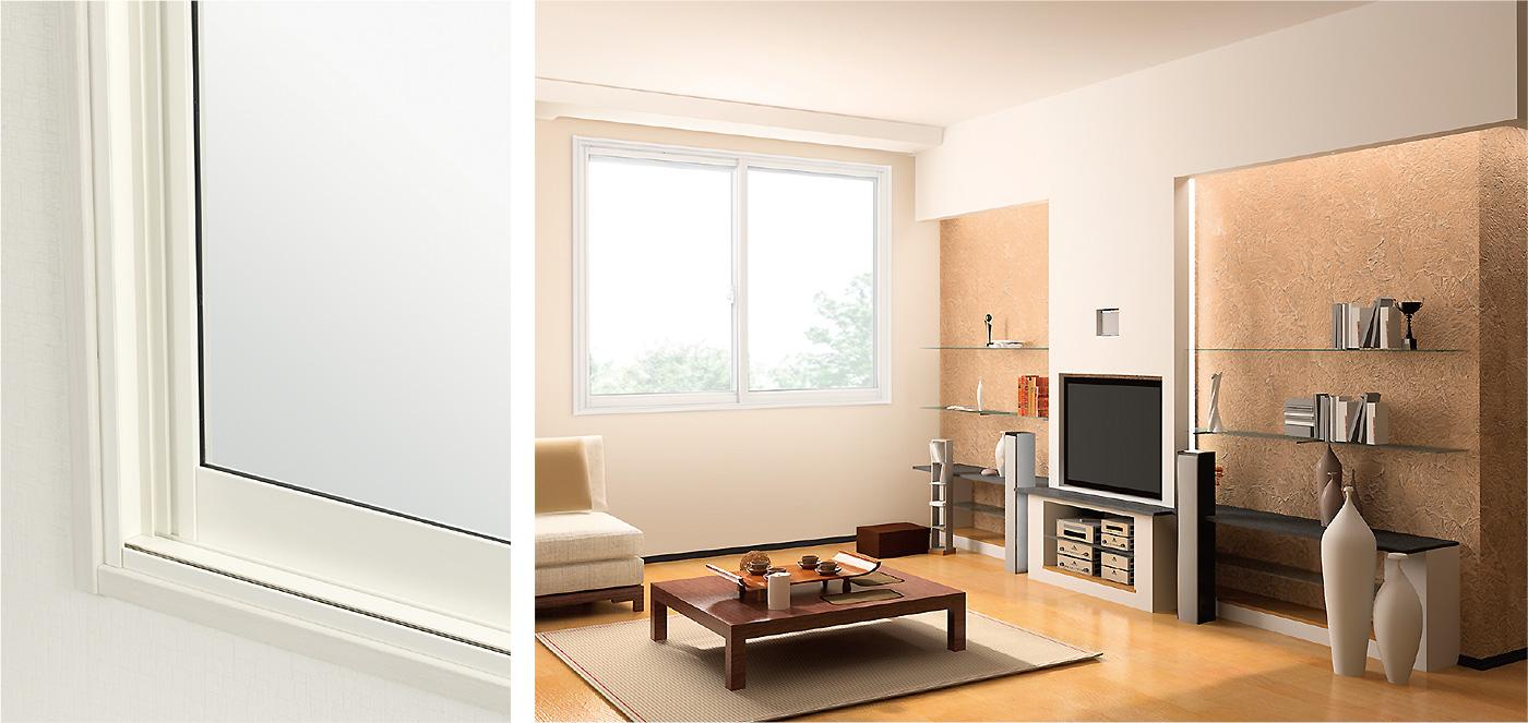 内窓プラストのカラー:アイボリーホワイト